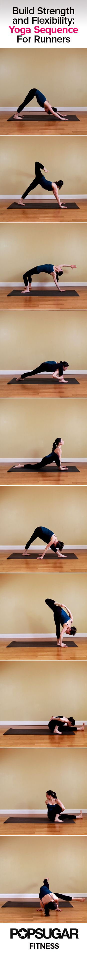 Yoga Sequence For Runners Legs | Poster