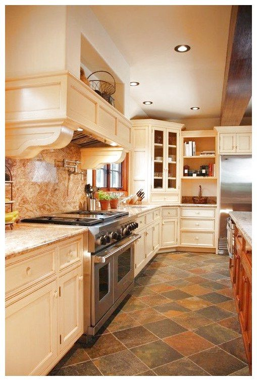 The Advantages Of Using Slate Kitchen Floor Luxurious Simple Flooringmakeoverinspiration Click To See More