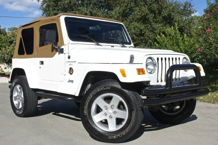 Highly Desired 2000 White Sahara - Only 98k Miles, New Soft Top and Uppers, Jk Wheels, Lifted, Automatic....Come See It ----> http://www.selectjeeps.com/inventory/view/7978630/2000-Jeep-Wrangler-2dr-Sahara-League-City-TX
