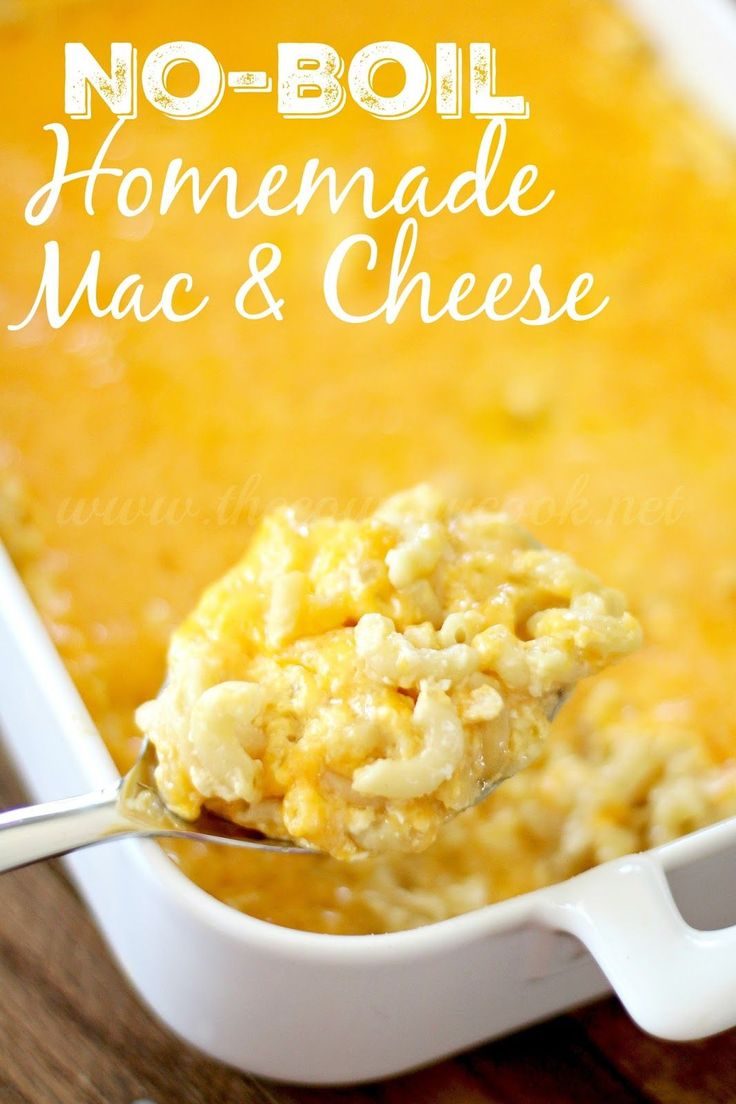 No-Boil Homemade Macaroni & Cheese! The easiest, creamiest homemade macaroni and cheese ever. No boiling the noodles first and it is made all in one pan!