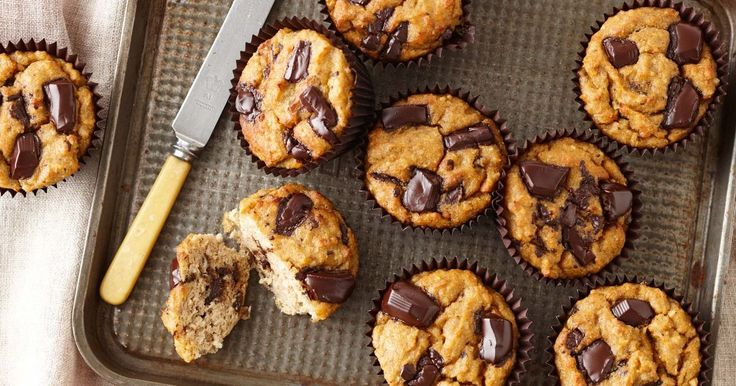 Indulge in these healthier banana muffins. The whole family will love them!