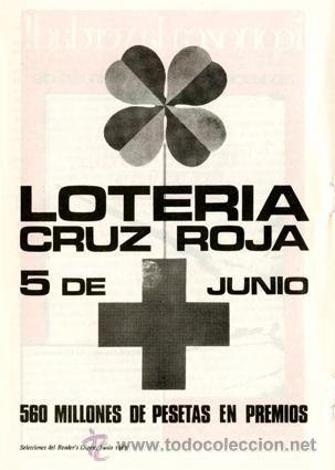 Página Publicidad Original *Lotería Cruz Roja 5 de Junio* Trébol 4 hojas - Año 1967