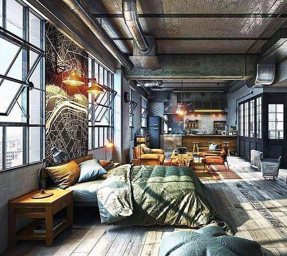 Top 50 Best Industrial Interior Design Ideas Raw Decor Inspiration Loft Apartment Decorating Industrial Home Design Loft Design