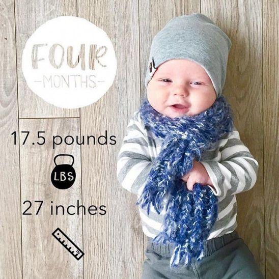 Joyeux 4 mois Beau! Nous aimons te voir grandir! Télécharger la petite pépite? app …  – Baby milestones