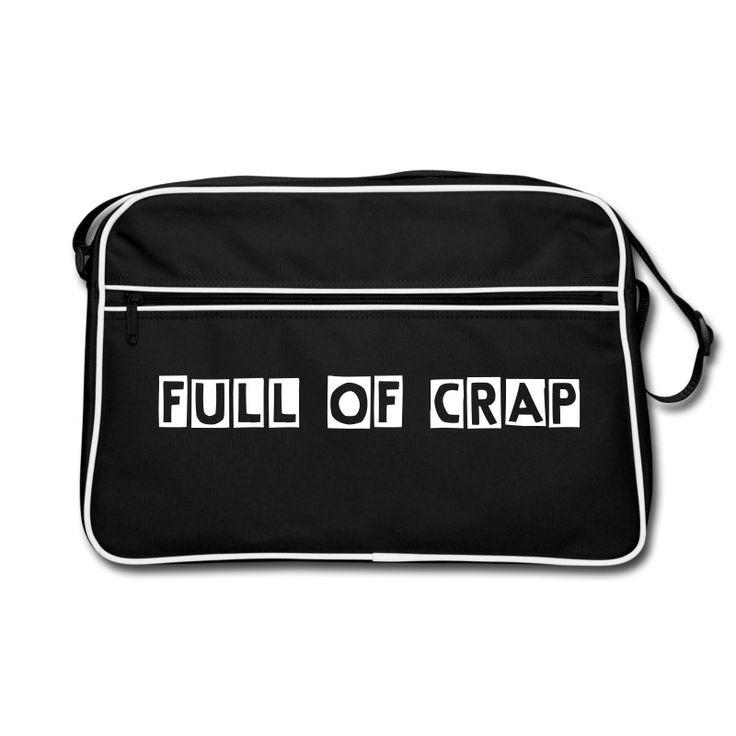 Een absolute must have voor de durfal meiden. Zie jij jezelf al over straat paraderen met deze grappige schoudertas met de opdruk 'full of crap'? Bestel snel!