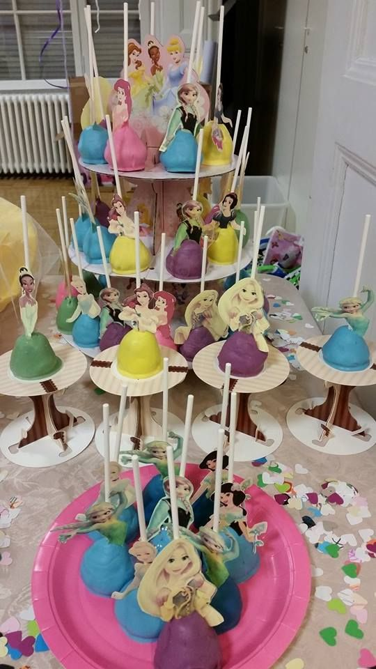 Disney Princess cakepops by yours truly.