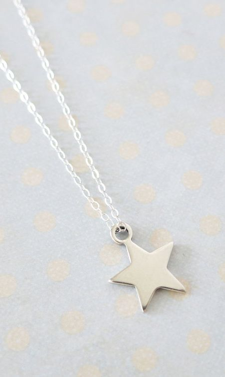 Petite Silver Star Necklace Sterling Silver Lucky