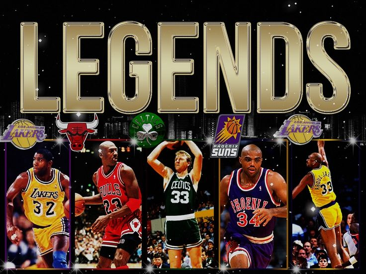 Magic Johnson, Michael Jordan, Larry Bird, Charles Barkley