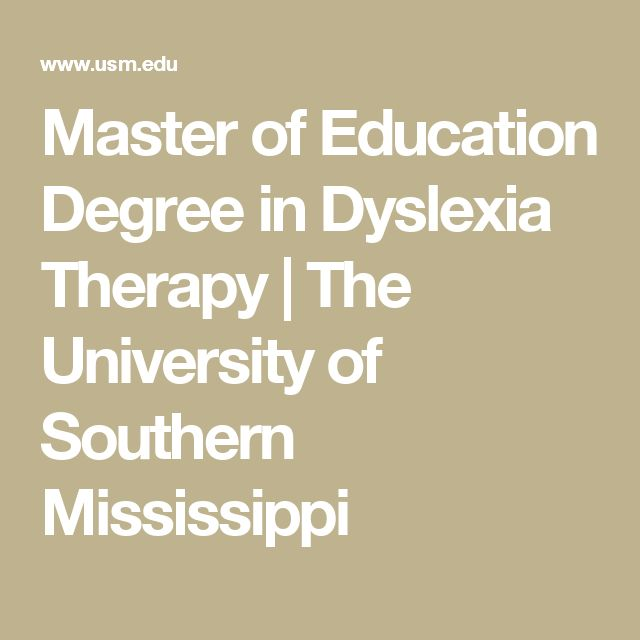 Master of Education Degree in Dyslexia Therapy | The University of Southern Mississippi