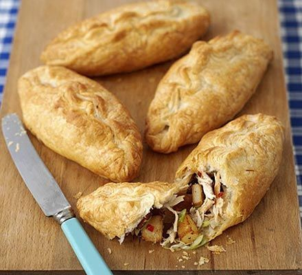 These easy to eat chicken and bacon pasties are perfect for on the go, lunch boxes, or a main meal