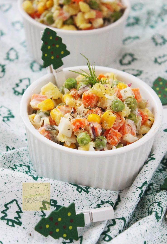Ekscentryczny Parowar: Fit sałatka jarzynowa z warzyw gotowanych na parze