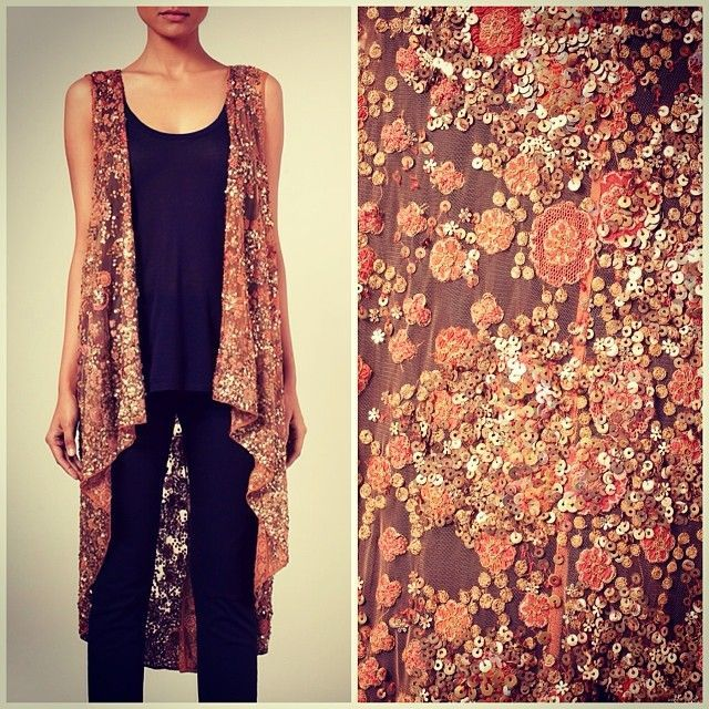 Nice combination of western cardigan style with Pakistani embroidery