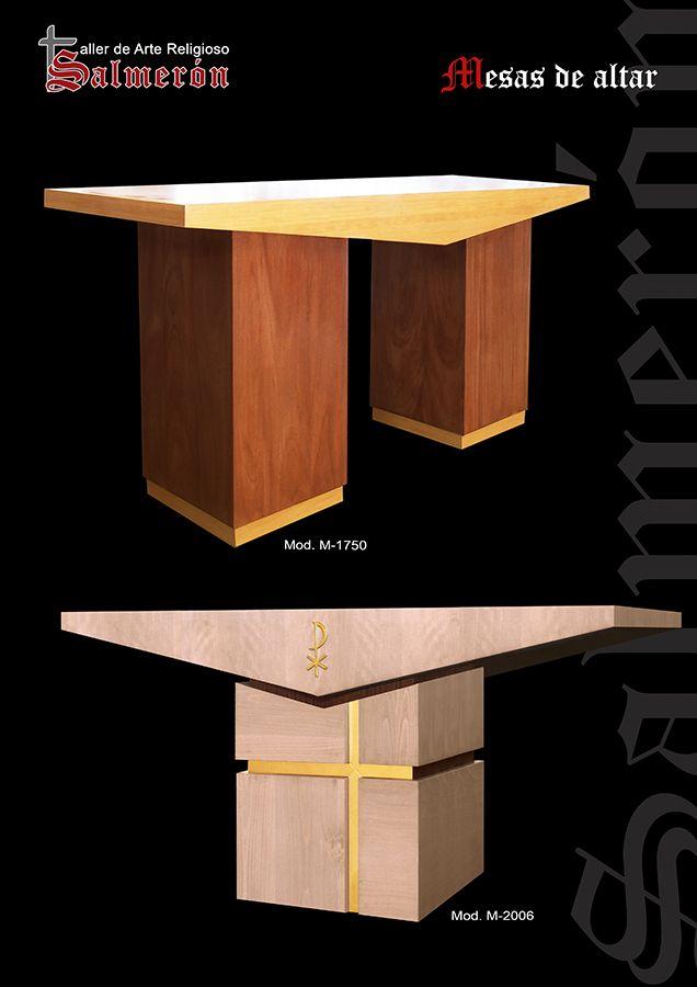 mesa de altar estilo moderno madera de Cedro taller arte religioso salmerón altarpiece, altars,