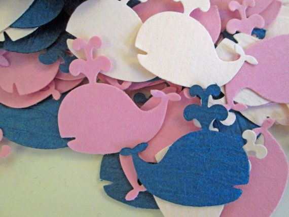 Whale Baby Shower, Baby Shower Confetti, Girl Baby Shower, Nautical Theme, Whale Theme, Custom Confetti (100 Count)