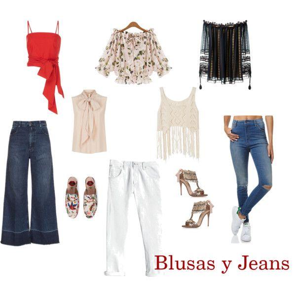 Blusas y Jeans by ptorres-s on Polyvore featuring moda, Chloé, MaxMara, MDS Stripes, Rachel Comey, Rebecca Taylor, Wrangler,…