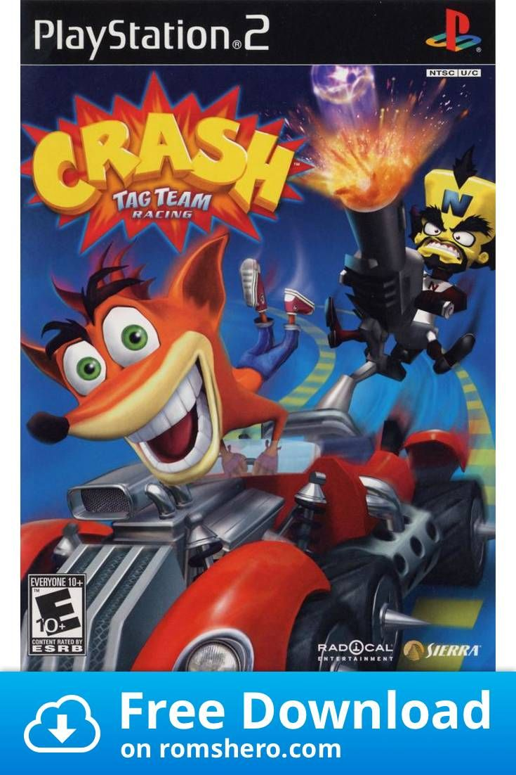 Download Crash Tag Team Racing Playstation 2 Ps2 Isos Rom In
