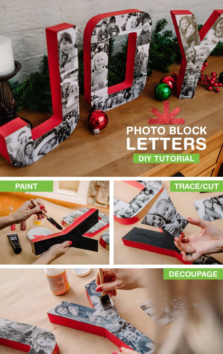 Turn your favorite family photos into swoon-worthy block letters with this DIY tutorial: