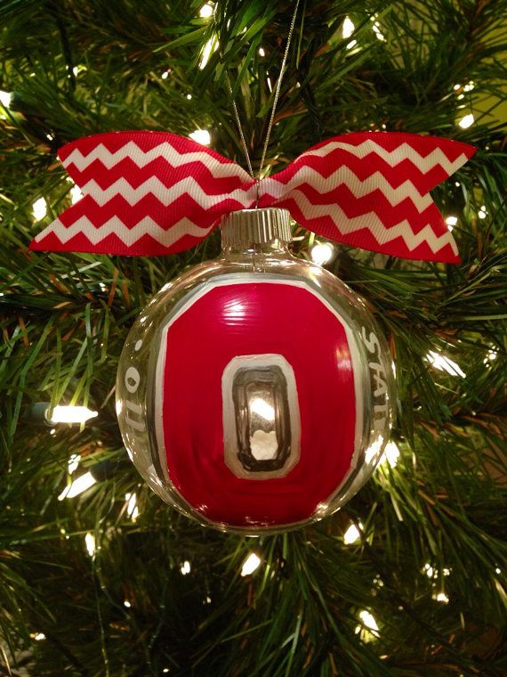 OHIO state ornament, ohio state, college ornament, college on Etsy, $15.00