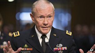Syria conflict: Joint Chiefs of Staff chairman Gen Martin Dempsey offered five military options, including limited strikes and establishing a no-fly zone, reports BBC. Top US general outlines military options The top US military officer has outlined the costs, risks and benefits of possible American military involvement in the Syrian conflict.