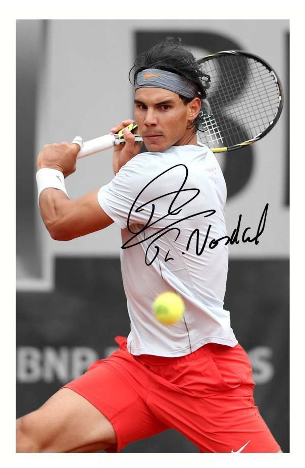 Rafa Nadal Autographed Signed A4 Pp Poster Photo 3 Rafa Nadal Autograph Sign Autograph