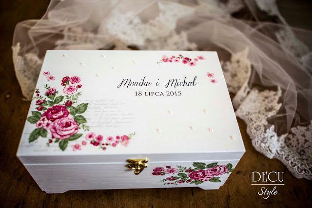 DECU Style - Decoupage blog: Skrzynka na życzenia pełna kwiatów...
