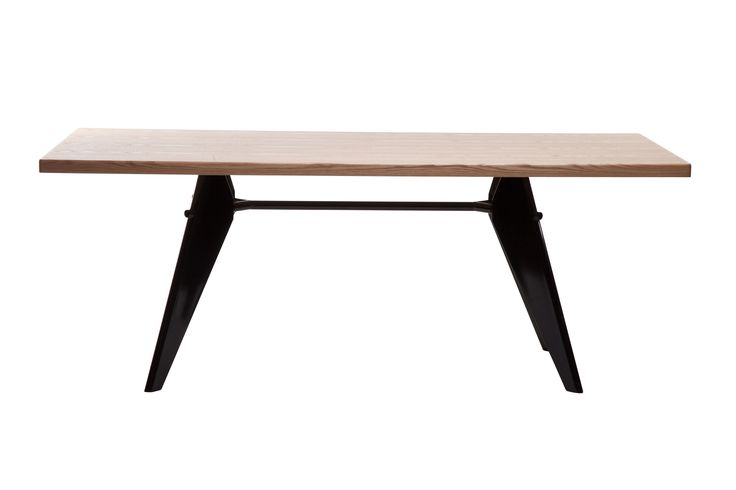 """Replica+Jean+Prouve+EM+Rectangle+Dining+Table+-+Oak+--+The+EM+Dining+Table+was+designed+in+the+early+1950's+by+Jean+Prouve+for+the+celebrated+""""Maison+Tropique""""+project+,+this+project+was+one+of+the+early+pre-fabricated+housing+projects+for+post+war+France.++Like+much+of+his+earlier+works,+the+design+follows+the+aesthetics+of+necessity.++Prouve's+engineering+background+is+evident+in+every+step+of+the+design,+but+the+result+is+much+more+organic+than+the+designer+ever+intended…"""