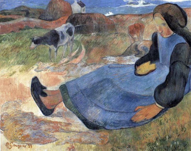 Paul Gauguin - La gardeuse de vache - 1889                              …