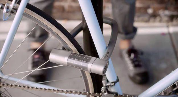 Candado bicicleta que se abre con tu móvil. Extraído de rve.es