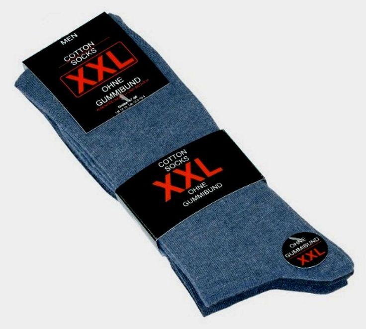 2 X Herren Socken Größe 47-50 Jeansfarben 3er Pack ohne Gummi !