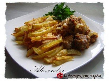 Χοιρινό με πιπερές και μανιτάρια στο φούρνο