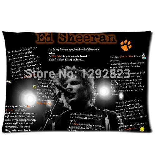 Популярная музыка звезда эд ширан настраиваемые фланель молнии чехол 20 x 30 ( одна сторона ) PC-1033