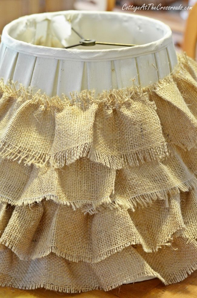 DIY Ruffled Burlap Shade