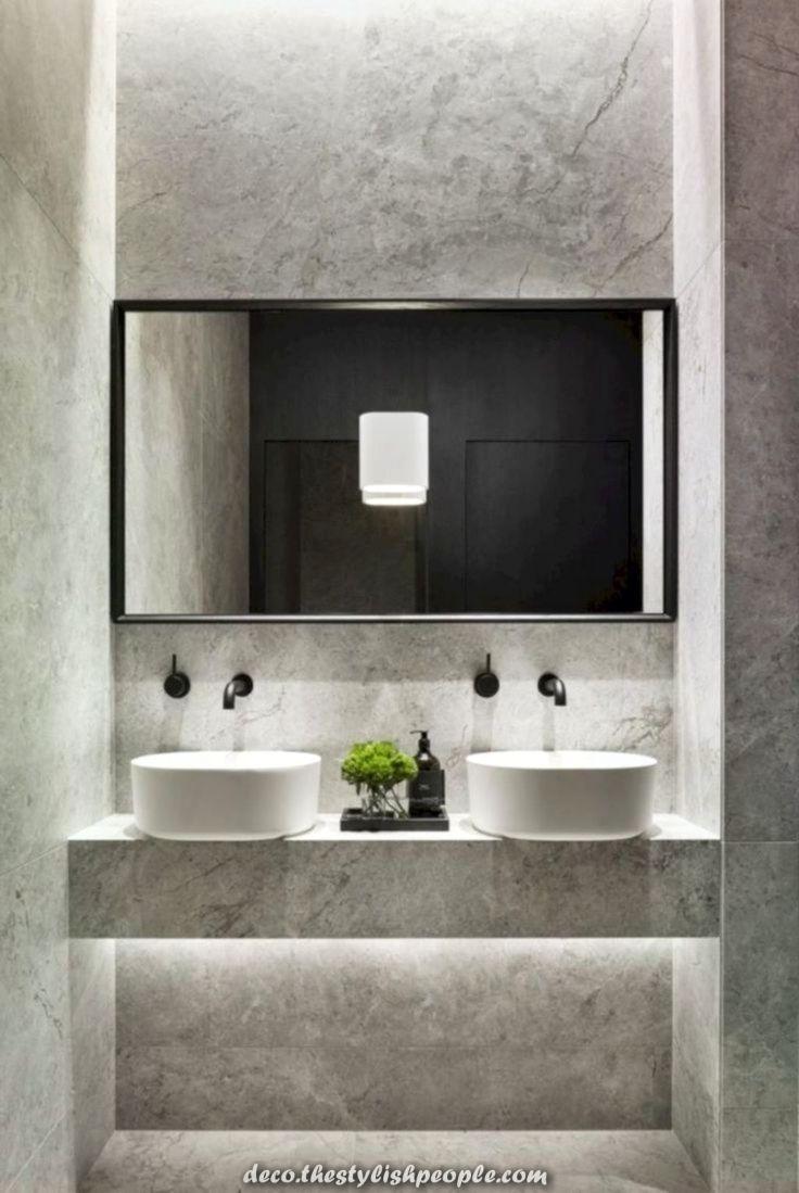 Aussergewohnlich Unglaubliche Ideen Zu Handen Die Gestaltung Offentlicher Bader Minimalistische Badgestaltung Badezimmer Buro Badezimmer