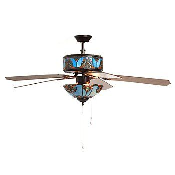 16 best ceiling fans images on pinterest ceilings blankets and tiffany style touch of elegance double lit stained glass ceiling fan aloadofball Image collections