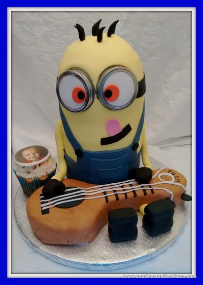 Minion Guitar Hero Cousin's Creations Birthday Cakes for Guys - Cousin's Creations