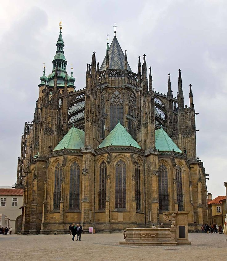 Perched at the top of Castle Hill, St. Vitus Cathedral is one of the most famous landmarks of Prague.