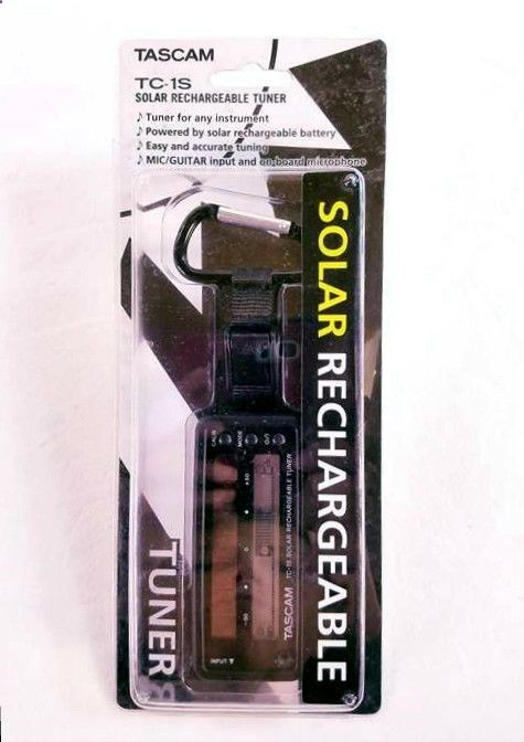 Tascam TC1SBK Solar Guitar Tuner in Black