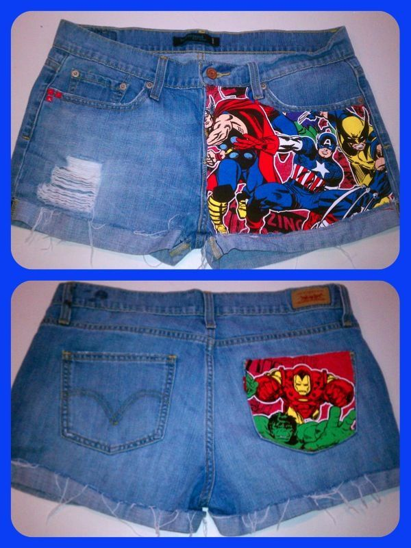 YES PLEASE! use old t shirt to make superhero shorts or take this idea and run with it :D