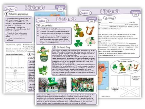 Anglais CM2 : Civilisation, l'Irlande