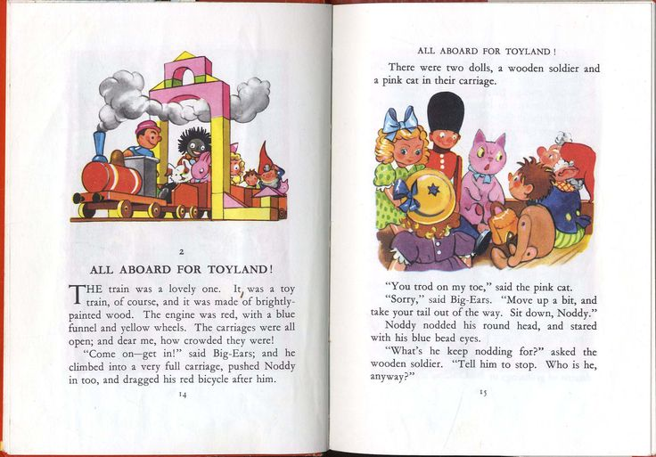 I chose this illustration out of this story because of how many characters are in this picture with a lot of different details and the colours are used which is very friendly to look at. Blyton's. E (1949) Noddy goes to toyland, Great Britain. Retrieved from; https://www.google.co.nz/search?q=noddy+goes+to+toyland&source=lnms&tbm=isch&sa=X&sqi=2&ved=0ahUKEwjHhsfbnKbUAhUKurwKHQWzBeYQ_AUIBigB&biw=1366&bih=662#imgrc=WlNZRu9YbrWD-M: