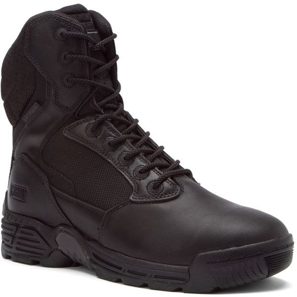 Magnum Men's Stealth Force 8.0 Sz Wpi Work Boots (389821101) (16840 DZD) ❤ liked on Polyvore featuring men's fashion, men's shoes, men's boots, men's work boots, black, shoes, mens water proof boots, mens waterproof boots, mens black work boots and mens leather boots