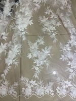 High Quality Net Lace,French Voile Guipure tulle mesh Lace Fabric with beads Z-han52431