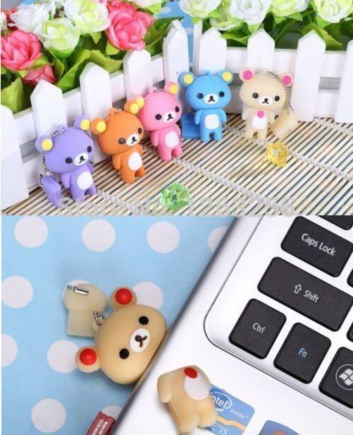 Прекрасный флэш-накопитель Rilakkuma Медведь Стиль USB флэш-накопитель флэш-памяти memory stick U диск 4 ГБ 8 ГБ 16 ГБ 32 ГБ