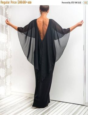 SALE ON 20 % OFF Black Backless dress Maxi Dress Caftan
