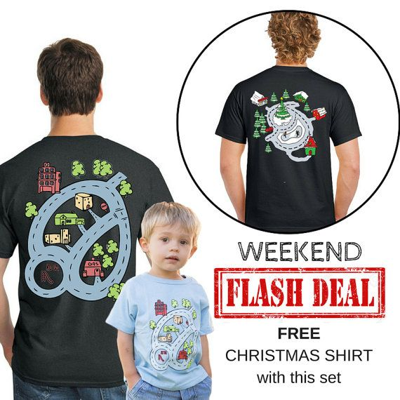 FLASH DEAL Father Son Matching Race Track Shirts by swankyturtle