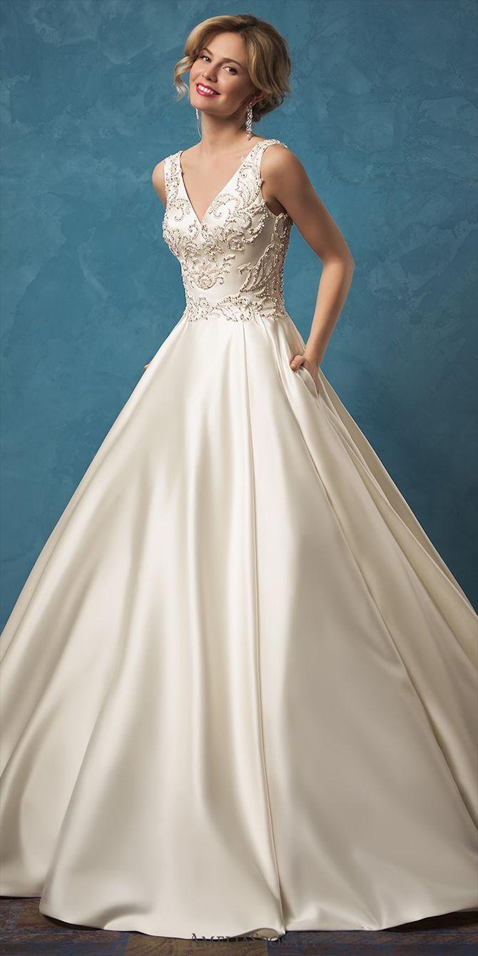 32 best Lace Wedding Dresses images on Pinterest | Wedding frocks ...
