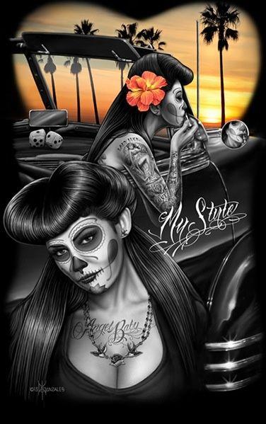 28 best gurls images on Pinterest  Chicano art Chicano