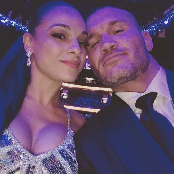 WWE Superstar Randy Orton and his wife Kim at the 2017 WWE Hall of Fame ceremony in Orlando #WWE #WWEHOF #WrestleMania #wwecouples