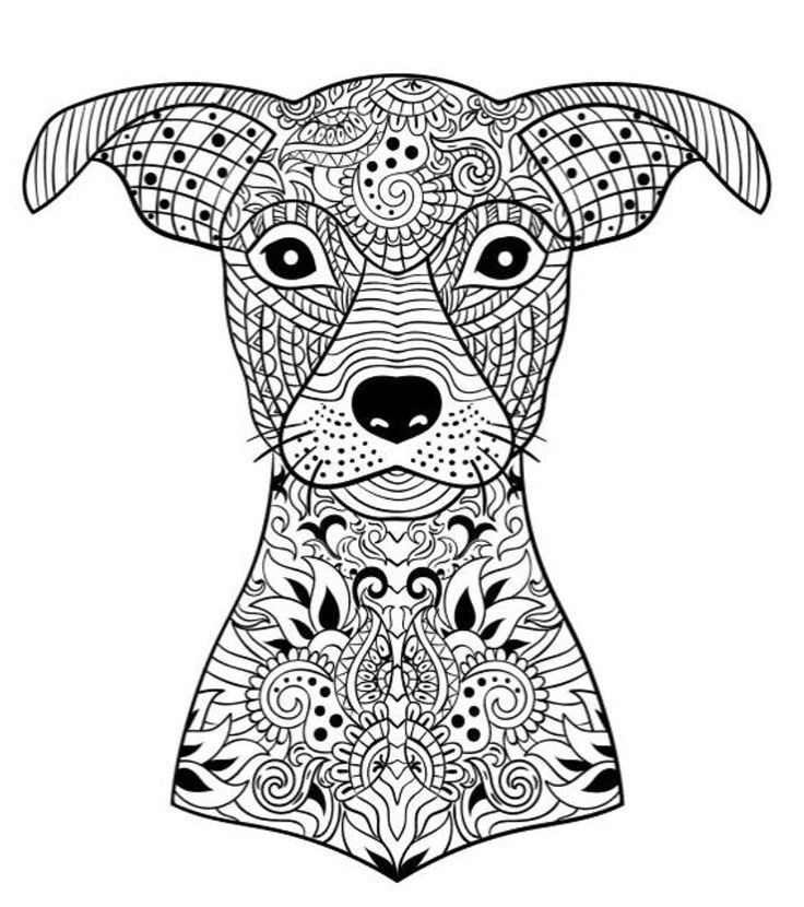 66 best Artistic Dog Coloring pages images on Pinterest Adult