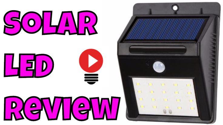 Solar LED Light Power Motion Sensor Ultra Bright Wall Cold White 6000k O...
